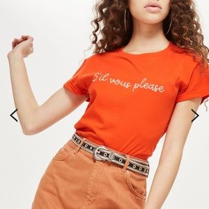 TopShop crop t-shirt size 6